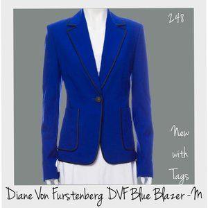 DVF Petra Knit Midnight Blue Blazer NWT 6